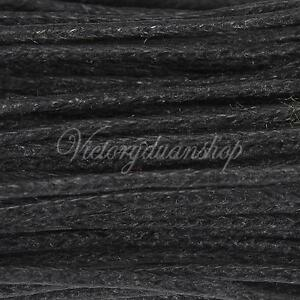 Black 10m 1mm 1 5mm Wax Coated String Cotton Waxed Cord
