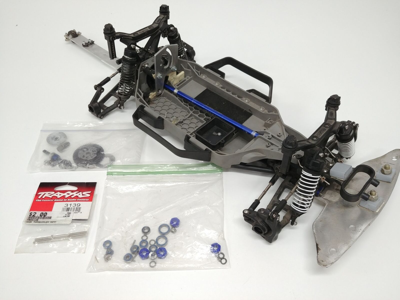 Traxxas 1/10 Slash / RALLY 4x4 LCG Roller/Slider Chassis UPGRADED Aluminum