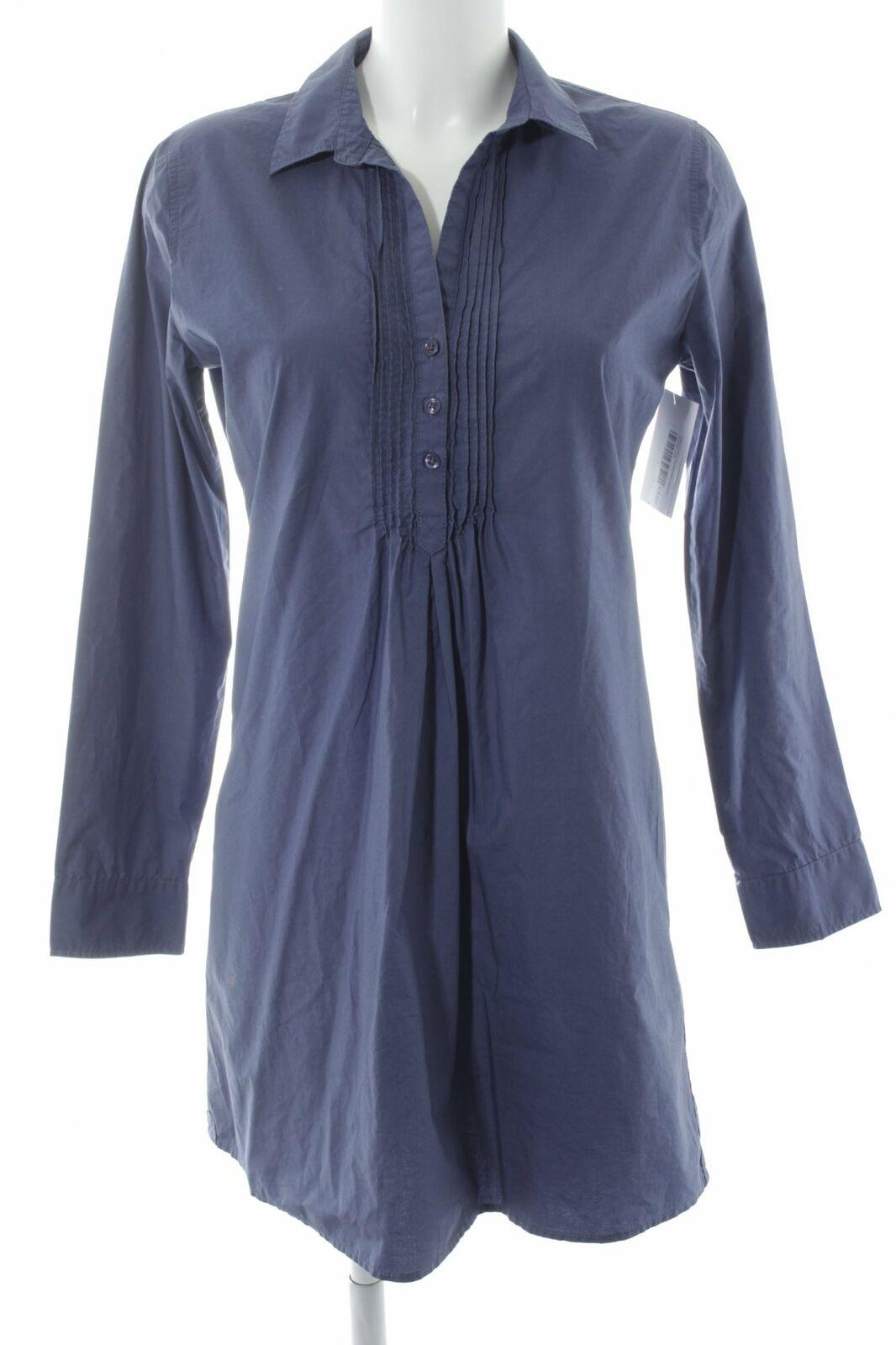 MARC O'POLO Blusenkleid stahlblau Casual-Look Damen Gr. DE 36 Kleid Dress