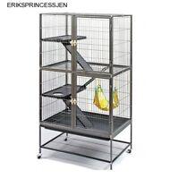 Prevue Hendryx Pet Double Ferret Levels Ramps Cage Chinchilla Home Stand Black