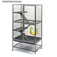 Prevue Hendryx Pet Double Ferret Levels Ramps Cage Chinchilla Home Stand Black