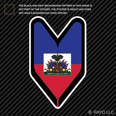 Haitian Driver Badge Sticker Decal Vinyl wakaba leaf soshinoya Haiti HTI HT