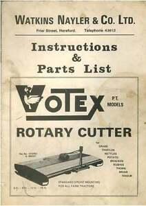 Votex Rotary Topper Pt Models 2 3 4 & 5 Ops Manual-afficher Le Titre D'origine Achat SpéCial