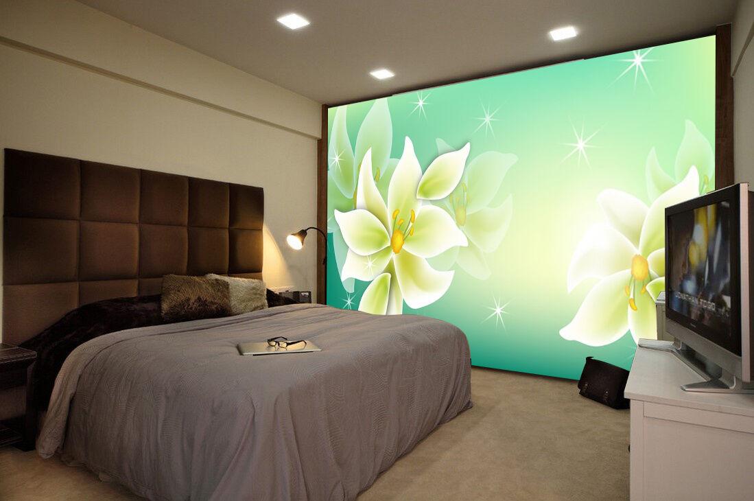 3D Pur Lotus 61 Photo Papier Peint en Autocollant Murale Plafond Chambre Art