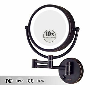 Gurun 10x Magnifying Led Lighted Makeup Mirror Hardwired