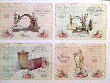 1 din a4 arco máquina de coser nº 2 vintage Shabby Chic Hell lámina de transferencia applik