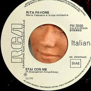 "STAI CON ME RITA PAVONE 7"" PROMO RCA  IERI AVEVO CENTO ANNI - G. & M. De ANGELIS"