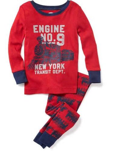 9 Choo Choo Train Sleep Set Pajamas Set PJ Boys 3T 4T 5T NWT Old Navy Engine No