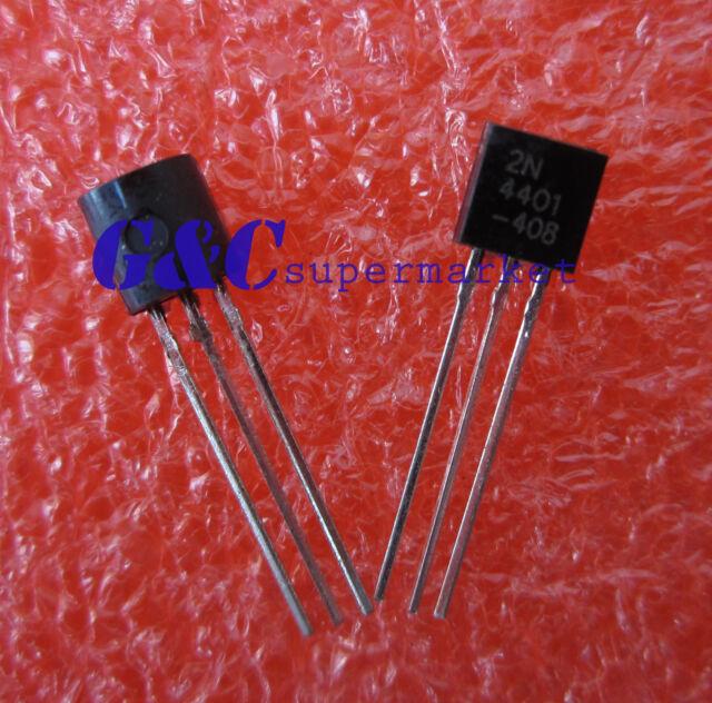 50PCS 2N4401 TRANS NPN 40V 600MA TO-92