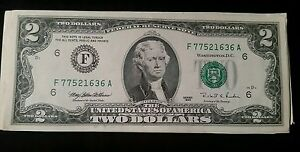 1995-Lightly-Circulated-RARE-Two-Dollar-Bill-2-Note-Non-Consecutive-Lot-Fancy