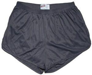 Soffe-Gray-Nylon-Ranger-Panties-Silkies-Running-Track-Shorts-Men-039-s-Large