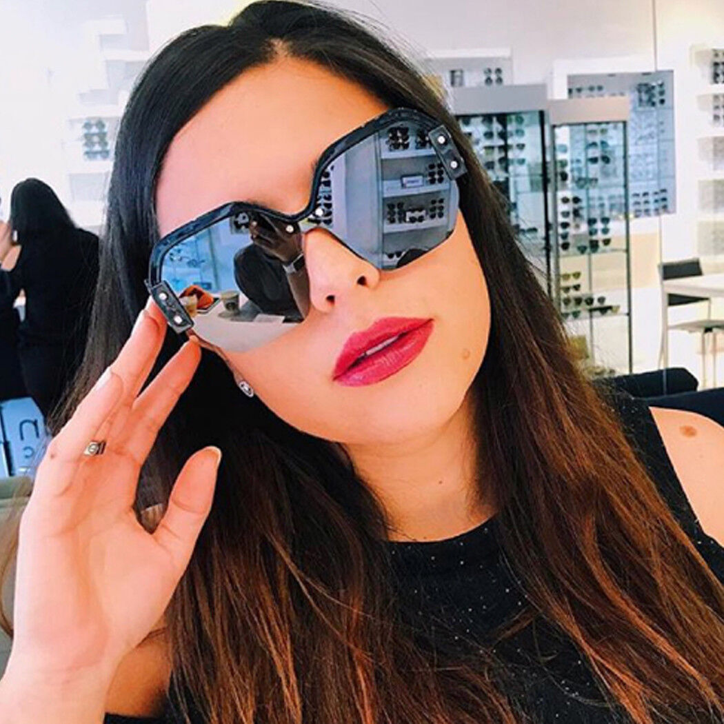 0c5a50eafd81 Women Large ladies oversized sunglasses half frame retro fashion glasses  2018 4 4 of 7 ...
