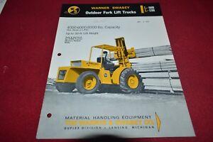 White Tractor Fork Lifts Lift Trucks Buyers Guide Dealer/'s Brochure GDSD7