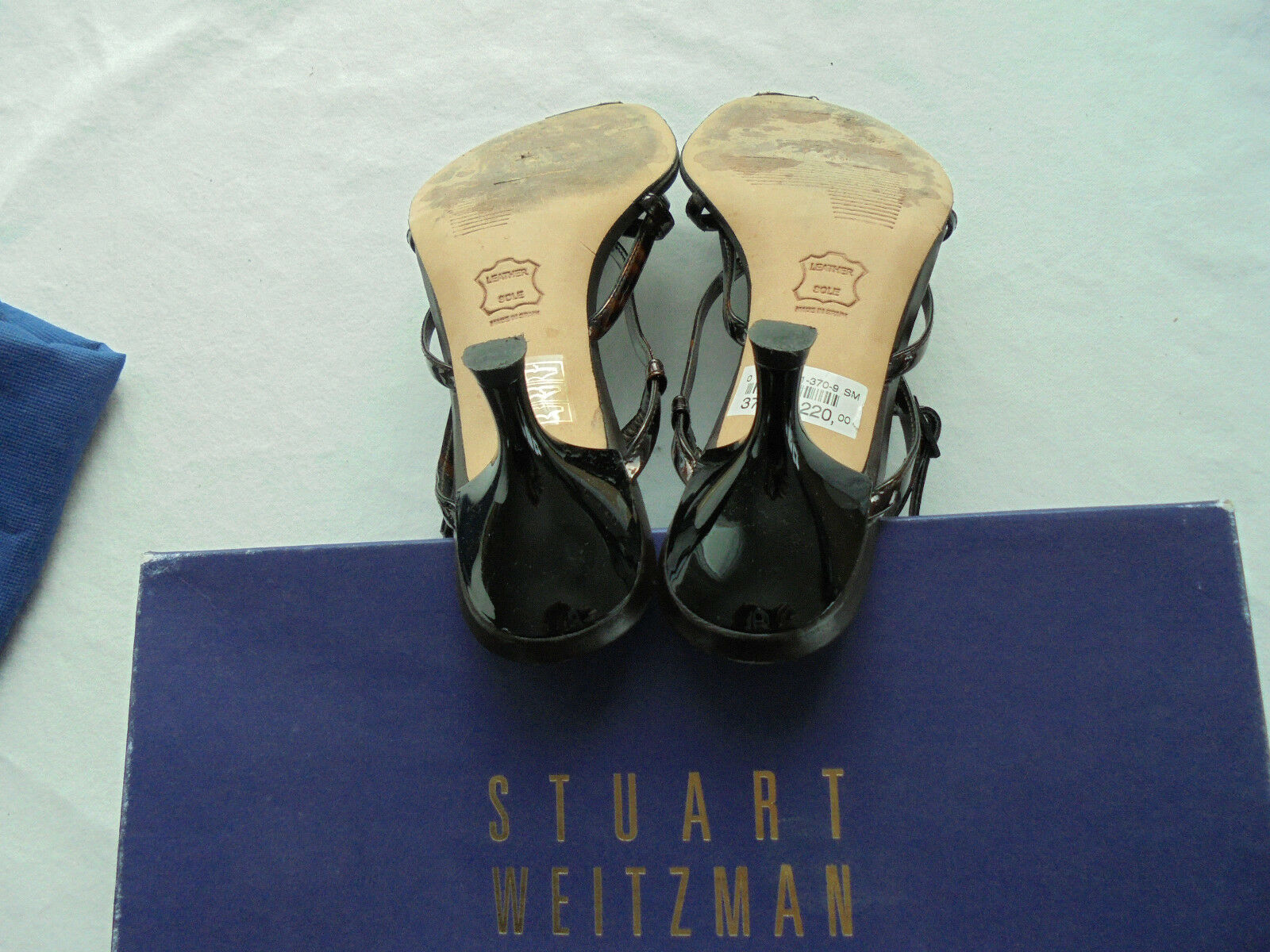 Stuart Weitzman Lackleder Sandalette NP:  w NEU Pumps Schuhe Gr. 37