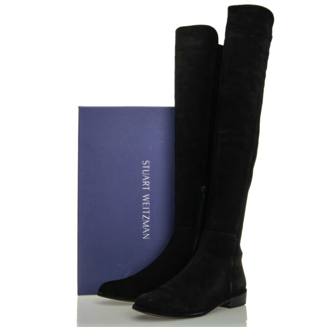 15e9399d1ae Stuart Weitzman Allgood Black Suede Over the Knee Tall Boots - Size 8 M