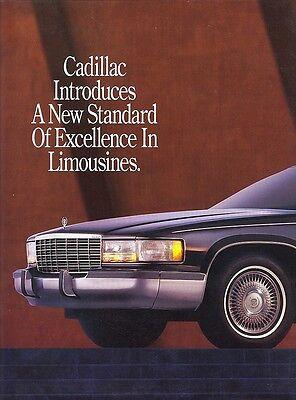 1993 Cadillac Coachbuilder Fleetwood Limousines Dealer Sales Brochure