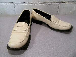 3f656c54d Image is loading Authentic-Prada-Womens-Cream-Color-Leather-Loafers-Flats-