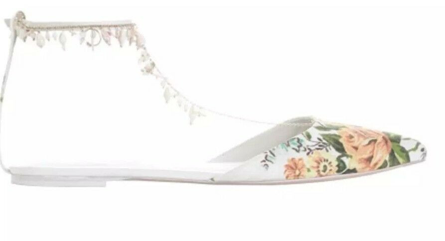 Zimmermann goldentime Pointed Flat   Tangerine Vine Floral Floral Floral   Fresh water Pearls e8b9a0