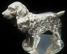 Silver SPANIEL Dog Model Figure, Birmingham 1949, A L Davenport Ltd