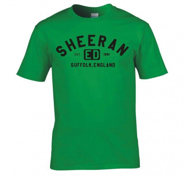 "ED SHEERAN ""COLLEGE LOGO"" T SHIRT NEW"