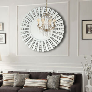 Large Round Circular Wall Mirror Modern Living Bedroom