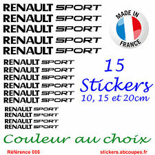 15 Stickers autocollants Renault Sport - Decals Clio Twingo Megane - 006