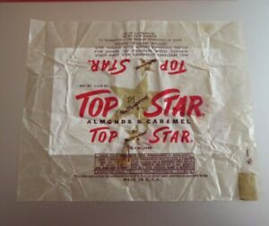 VINTAGE OLD candy bar wrapper Hollywood 1940's Top Star  Centralia IL