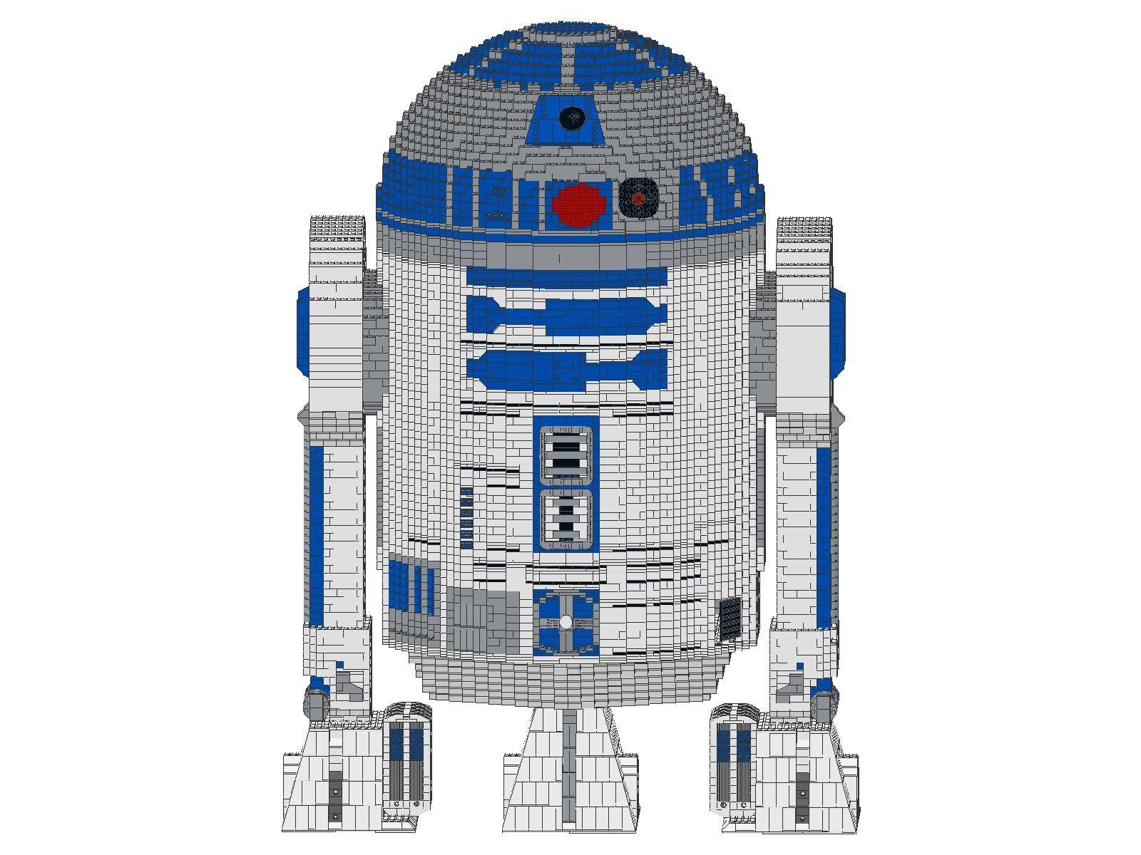 Bauanleitung instruction R2D2 10225 Star Figur Sculptur Eigenbau Eigenbau Eigenbau Unikat Moc Lego f27226