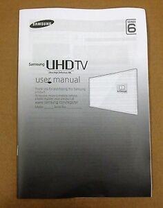samsung uhd 4k genuine tv user manual series 6 bn68 07539g 01 rh ebay co uk owners manual samsung tv model un43mu6300 owners manual samsung tv 6 series 40 inch