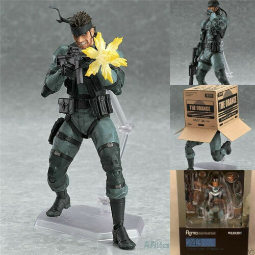 """SONS OF LIBERTY Figma No.243 Snake Action Figure Model METAL GEAR SOLID 2 Box 6/"""""""