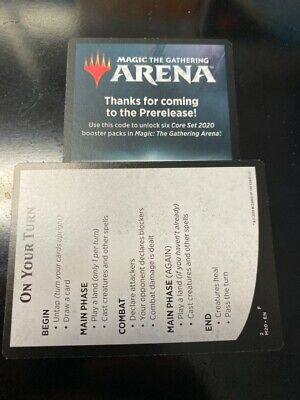 Core Set 2020 Prerelease Arena Code 6 Packs Mtg Magic EMAIL ONLY!