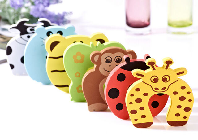 6X Baby Safety Foam Door Jammer Guard Finger Protector Stoppers Animal Design TS
