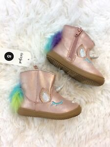 Size 5 NEW Cat /& Jack Baby Toddler Girls Pink Unicorn Boots