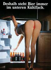 Doppelpack Bier steht immer unten+Schnaps oben 6x8 cm Kühlschrankmagnet /210