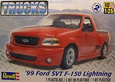REVELL 1:25 SCALE 1999 FORD SVT F-150 LIGHTNING TRUCK PLASTIC MODEL TRUCK KIT