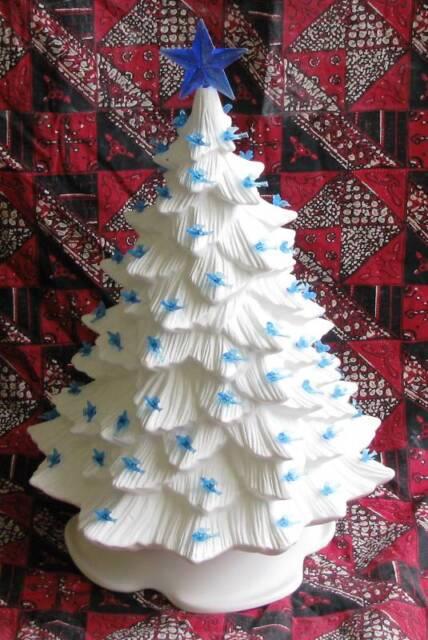 Ceramic Bisque 16 Inch Christmas Tree Doc Holliday 725 Light Kit U Paint