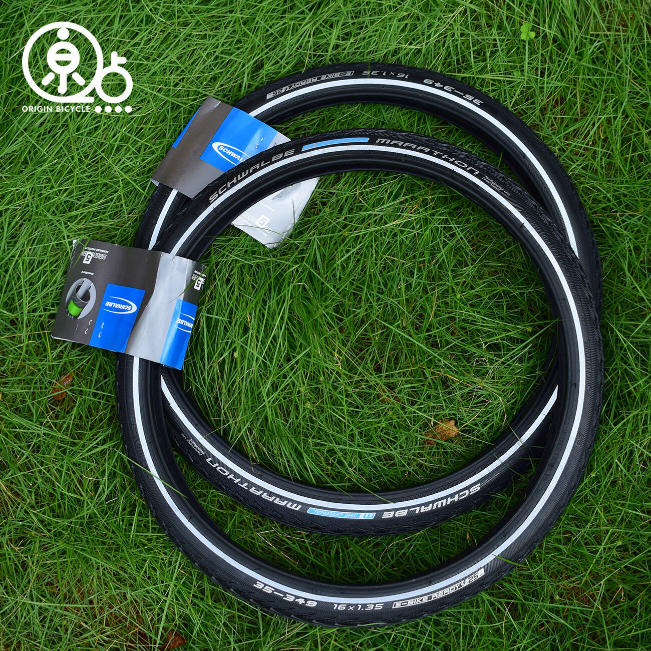 Pair Schwalbe Marathon 16x1 1 3 (16x1.35) (35-349)  Brompton Bicycle  Bike Tyres  fitness retailer