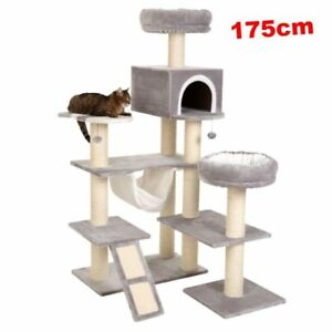 Unique-Cat-Tree-XXL-Pet-Scratching-Post-Tower-Condo-Furniture-Snuggle-Beds-House
