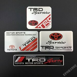 TRD Sportivo Car Sport Badge Emblem Decal Sticker Fit For ...
