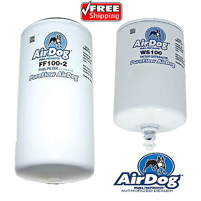 AirDog Pureflow Replacement Fuel /& Water Separator Filters FF100-2 /& WS100