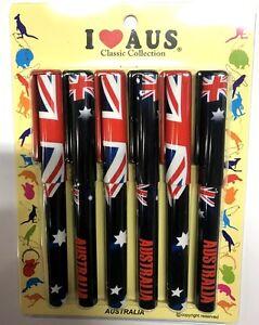 12pk-Australia-Souvenir-Stationary-Australian-Flag-Design-Ball-Point-Pen-Sets