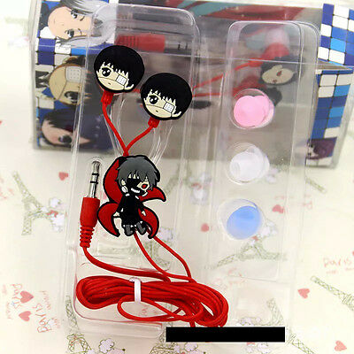 Cute Anime Tokyo Ghoul Kaneki Ken Earphone Earbuds Headphones Headset Cosplay