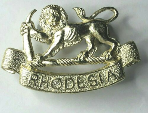 Rhodesia Rhodesian Army General Service Cap Badge staybrite Anodised 50 x 31 mm