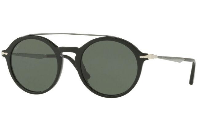875e22f5e759 NEW PERSOL Sunglasses PO3172S 95/31 Black Grey Green Calligrapher Round 51mm