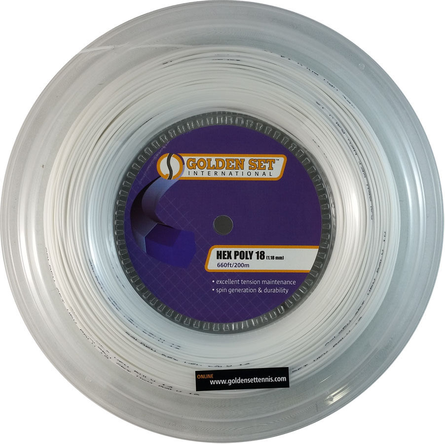 GSI Hex Poly 18 Weiß tennis string - 660ft Reel