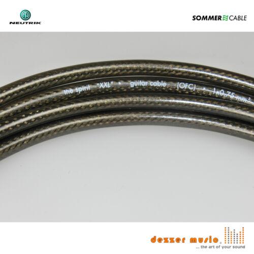 SPIRIT XXL NEUTRIK 2x 3m Instrumentenkabel Sommer Cable Klinke 6,3 Winkel-Win