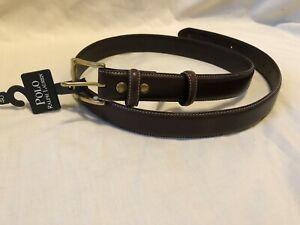 RALPH-LAUREN-Polo-Dark-Brown-Italian-Leather-Dress-Belt-Mens-size-40-NEW-NWT