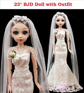12 Inch 23 Movable Joints BJD Doll 31cm 1/6 Makeup Dress