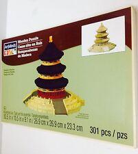"NEW ""TEMPLE OF HEAVEN"" Unpainted Wood Wooden 3D Building Sculpture Puzzle Craft"