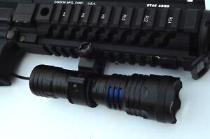 Tactical LED Gun Flashlight 1000 Lumens Rifle or Shotgun Picatinny ...